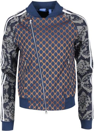 182d36556a2 Modrá dámská mikina na zip adidas Originals Paris - Glami.cz
