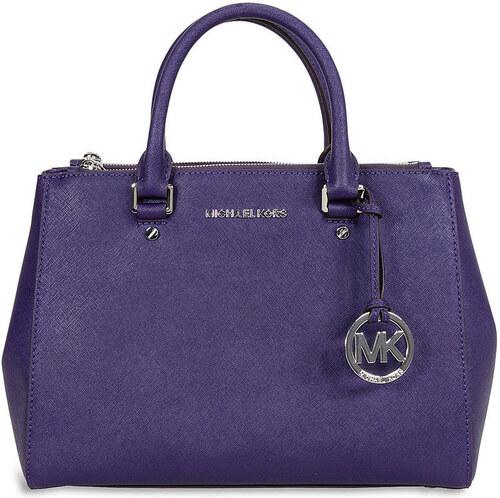 40325446bb Kožená kabelka Michael Kors Sutton dressy medium saffiano iris purple
