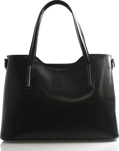 6c202c9766c3 Väčšia kožená kabelka čierna - ItalY Sandy čierna - Glami.sk