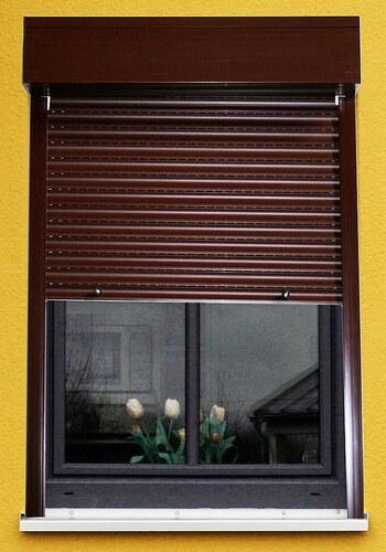 Kunststoff »Vorbau-Rollladen« Festmaß, BxH: 110x220 cm, braun