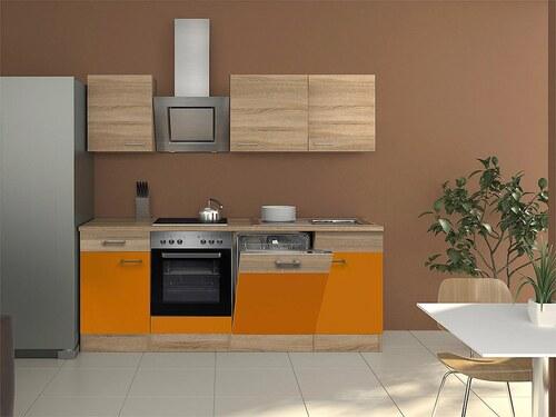 Küchenzeile mit E-Geräten »Rio«, Breite 220 cm, inkl. 2. Frontensatz gratis dazu