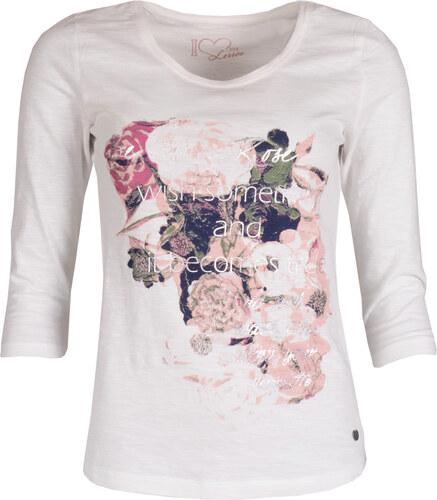 9cef4286446 Dámské bílé tričko LERROS s potiskem - vel. 40 - Glami.cz