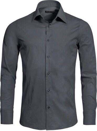 59f5aa69d27 Pánská antracitová slim fit košile REDBRIDGE - Glami.cz