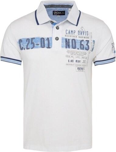 64f23fddaf6c Pánske biele polo tričko CAMP DAVID - vel . S - Glami.sk
