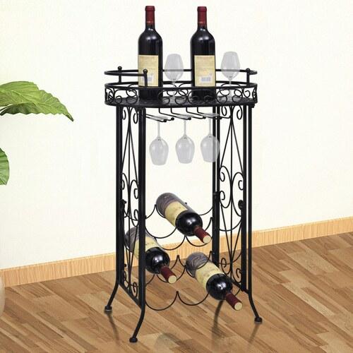 Kovový regál na víno Table ( 9 lahví )