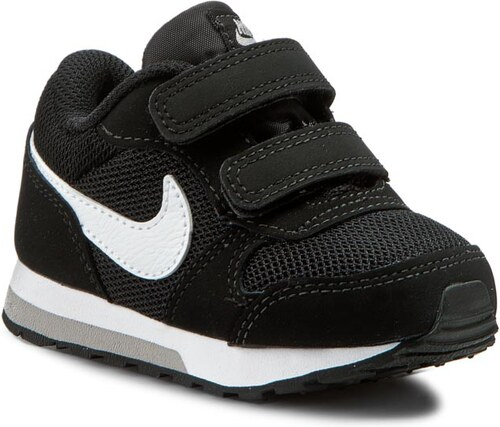 a28a7575aadf82 Topánky NIKE - Md Runner 2 (TDV) 806255 001 Black White Wolf Grey ...