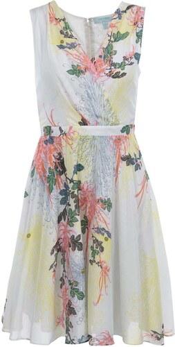 Bílé květované šaty Fever London Biscayne - Glami.cz 481537b830