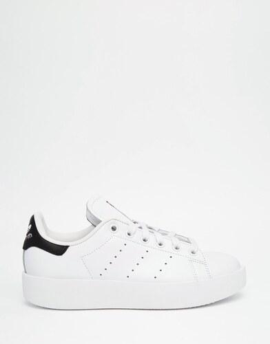 Adidas Originals - Stan Smith - Baskets à semelle double de couleur vive - Blanc