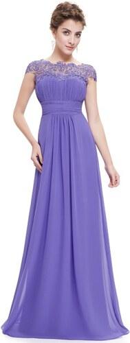 29c07404347 Ever Pretty plesové šaty s krajkou fialkové 9993 XS - Glami.cz