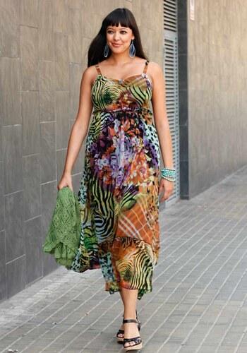 aa11309d571 Sheego Letní šaty (vel.46 skladem) 44 pestrá
