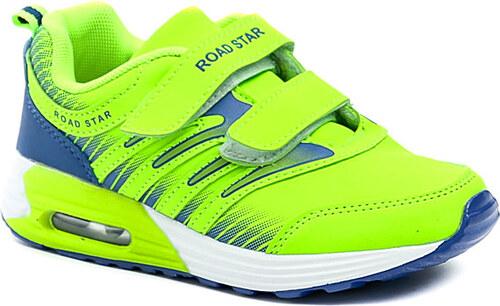 5bc76df0e Dětská obuv ARNO Road Star RS-1406B zelené neonové tenisky - Glami.cz