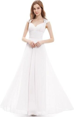 Ever Pretty šaty s flitry bílé 9672 - Glami.cz f66ae971bb