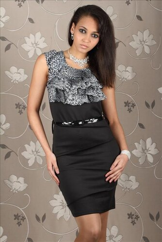 Estelle fashion Dámské šaty leopard s páskem - Glami.cz 5c123f515ca