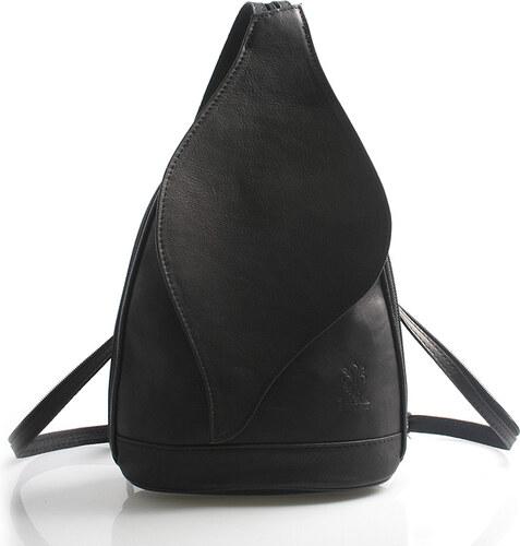 4e0c6628bf5 Čierny dámsky kožený ruksak ItalY Corynn čierna - Glami.sk