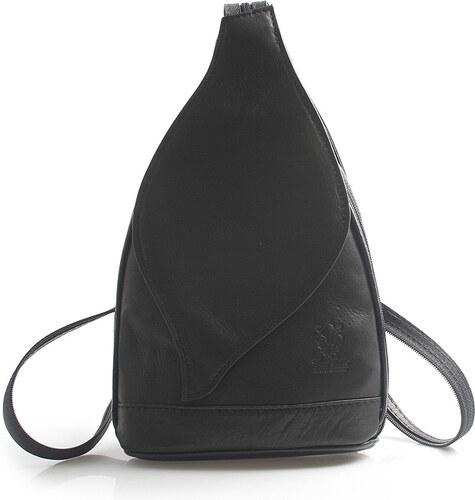 646c952f393 Čierny dámsky kožený ruksak ItalY Nova čierna - Glami.sk