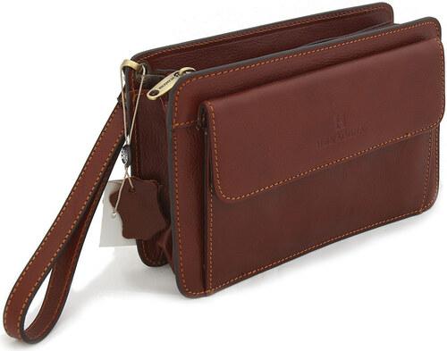 Etue Toaletní kabelka Hnědé luxusní pánské kožené 110482 Etue - Glami.cz 48f1e34ef77