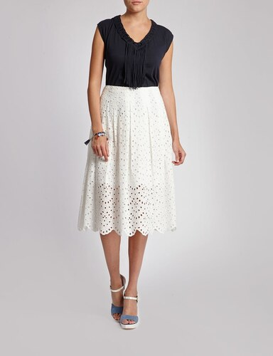 Morgan de toi ! Jupe longue broderie anglaise - Glami.fr 97469b7ccd58