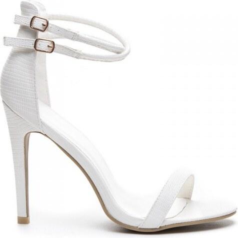 KOI Lehké a úchvatné bílé sandále na podpatku - Glami.cz ea7c21e48f