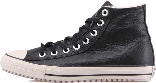 8e2ea5ade59 Béžovo-černé pánské kožené zimní tenisky Converse Chuck Taylor All Star
