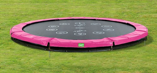 Trampolin »EXIT Twist Ground«, ø 305 cm Rosa/Grau