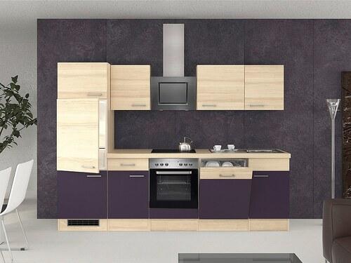 Küchenzeile mit E-Geräten »Portland«, Breite 280 cm, Set 4
