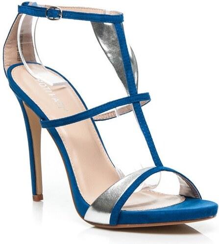 3d3e9f1c0b Jednoduché elegantné sandále v modrej farbe - Glami.sk