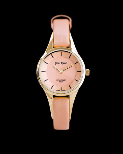 Dámské broskvové hodinky Gino Rossi Lola - Glami.cz 913921a80b