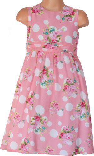 2e60cdb12608 Topo Dievčenské kvetované šaty s bodkami - ružové - Glami.sk