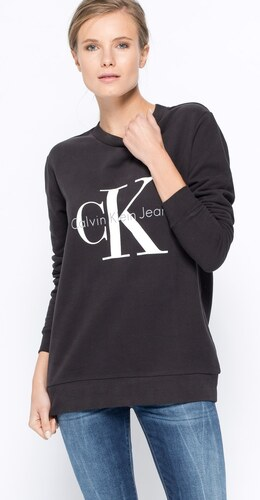 Calvin Klein Jeans - Mikina - černá - Glami.cz 279bda9cd6