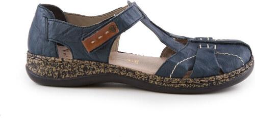 6b93dc6b578 Rieker - Dámské letní sandály na suchý zip s pohodlnou stélkou síře G 46380- 14
