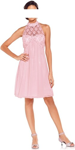 Růžové koktejlové šaty Carry Allen by Ella Singh 42 rosa Ano - Glami.cz 2eb7a32740