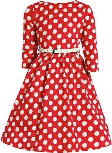 Dívčí červené puntíkaté šaty Lindy Bop Holly Mini - Glami.cz ac19829f16