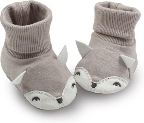 Pinokio Dětské capáčky ponožky s liškou - béžové - Glami.cz 31ee606513