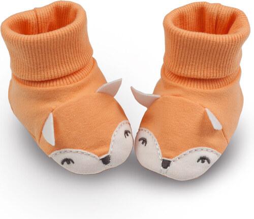 Pinokio Detské topánočky   ponožky s líškou - oranžové - Glami.sk c89d59d3b3