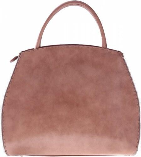 d722b0a91e -15% Genuine Leather Kožená kabelka kufřík s možností rozšíření béžová
