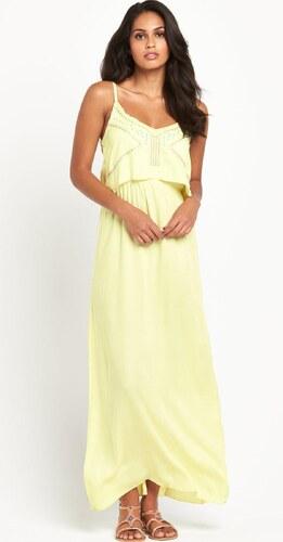 CLOSET Světle žluté šaty s vyšívaným topem - Glami.cz 813c344699