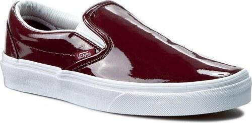 a6e74f3e0e Tenisky VANS - Classic Slip-On VN0003Z4IWO (Tumble Patent) Burgundy ...