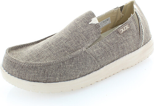 Dude Shoes Bézsszürke férfi mokaszin Dax Linen - Glami.hu 39fc64ae63