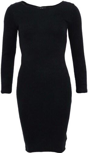 Černé úzké šaty s dlouhým rukávem AX Paris - Glami.cz 5679921f64