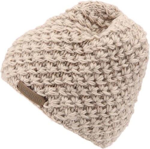 Béžová pletená čepice TRANQUILLO RAJA - Glami.cz 037844dbf4