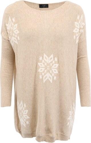6abec5400601 Béžový svetr s vločkami AX Paris - Glami.cz