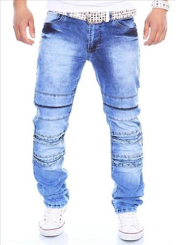 KC-1981 kalhoty pánské 3112 jeans prošívané džíny - Glami.cz 726682e7c5