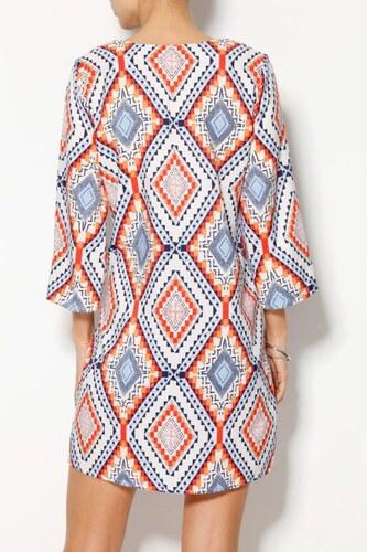 Venca Tunikové šaty s geometrickým vzorem potisk - Glami.cz 15171ddf1b