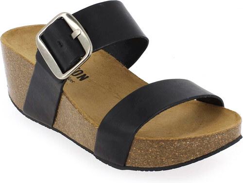 Sandales et nu-pieds en Cuir Noir Plakton QKqSUdx1fw
