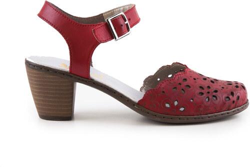 897a641a773f Rieker - Dámské sandály na podpatku s plnou špičkou šíře G 40953-33 EUR 39