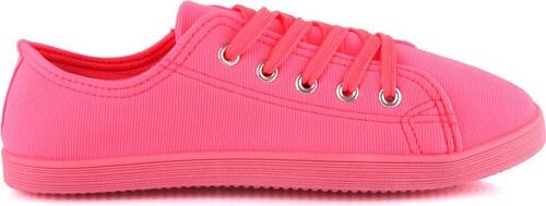2405117aae BLESS Růžové neonové tenisky R-6PI - Glami.cz