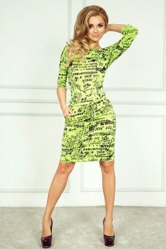 Dámské letní šaty neonově zelené SaF - Glami.cz bca0bee8fc