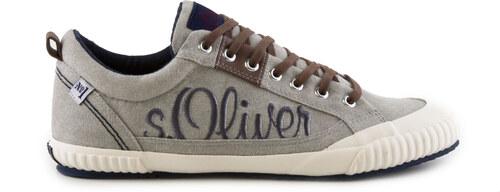 s.Oliver - Pánské textilní tenisky se šněrování a nápisem s.Oliver 5 ... 82e8cb0489