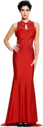 Červené dlouhé šaty s holými zády - Glami.cz 57e35dd9f11