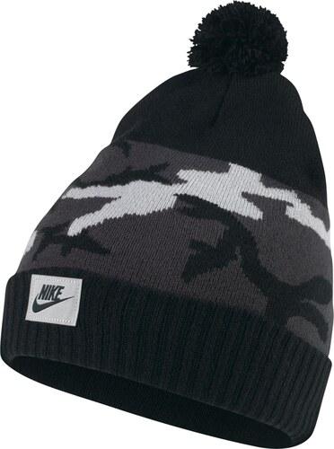 Nike Zimní čepice s bambulí černá Jednotná - Glami.cz 6becc6ef37